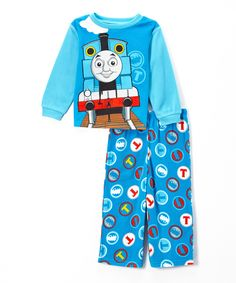 Look at this Blue Thomas the Train Pajama Set - Toddler on #zulily today!