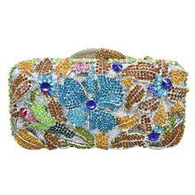 LaiSC Strass Frauen Luxus Abendtasche Gold Rose Blume Kupplung Tasche Handtaschen Weibliche Pochette Prom Geldbörse SC238 //Price: $US $62.40 & FREE Shipping //     #abendkleider