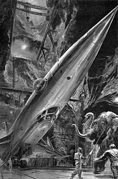 """Dedicated to all things """"geek retro:"""" the science fiction/fantasy/horror fandom of the past including pin up art, novel covers, pulp magazines, and comics. Arte Sci Fi, Sci Fi Art, Ufo, Science Fiction Kunst, Espace Design, World Of Tomorrow, Classic Sci Fi, Vintage Space, Boris Vallejo"""