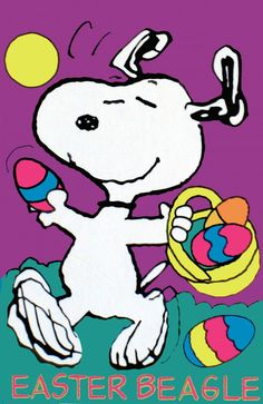 Snoopy Easter | EASTER BEAGLE SNOOPY Flag