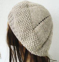 Knit hat pattern Hat Knitting PATTERN PDF Seed Stitche by Ebruk, $5.00