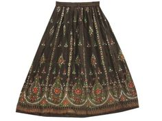 Womens Bohemian Skirt Red Green Dcrapechic Brown Floral Sequin Beaded Bellydance Long Skirt Mogul Interior, http://www.amazon.com/dp/B009QVH7PU/ref=cm_sw_r_pi_dp_-.2Fqb1D8XB6P