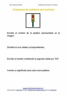 Ejercicios para niños con dislexia sustitucición de sílabas y creación de palabras - Orientacion Andujar