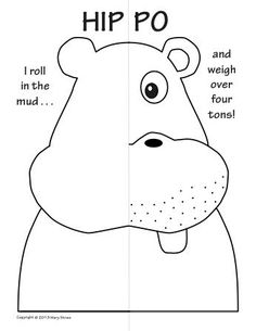 Zoo Animals Symmetry Activity Coloring pages. Math with Craft-Creative Writing option.: