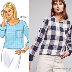 Sew the Look: Butterick B5948 top