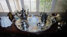 Nice silver tea set  at Crown City Estate Sales in Verdugo City/ Montrose Ca. www.crowncityestatesales.com