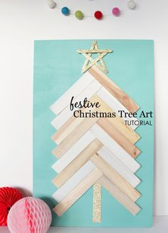 DIY Christmas Tree Art - we love that it's kid-friendly!