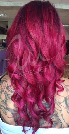 Beautiful magenta hair
