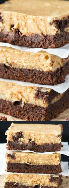 These Peanut Butter Cheesecake Brownies from Simply Stacie taste out of this world. A rich and fudgy brownie layer is topped with a smooth peanut butter cheesecake filling!