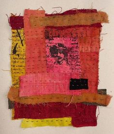 fabric collage and stitching