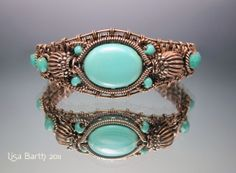 Woven Bracelet with turquoise.