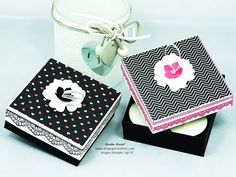 Gift Box with Ribbon Pull Lid for 8 Tea Lights + video