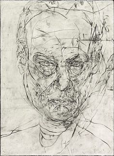 12 Untitled self portraits (set 1), (1989) by Mike Parr :: The Collection :: Art Gallery NSW