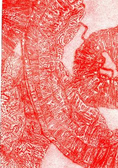 Red original fine art hand pulled print From by lottieanderson, $25.00