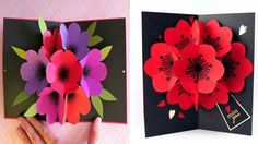 Diy 3d pop up flower card crafts diy presents paper crafts how to make a bouquet flower pop up card mightylinksfo