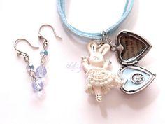 Lolita woodland neo classical fairy kei Handmade locket by Aya1gou, $30.00