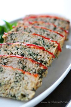 Turkey Meatloaf Florentine from www.laurenslatest.com....the healthiest, tastiest meatloaf ever! You'll never need another meatloaf recipe a...