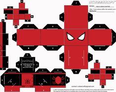 Papercraft Templates favourites by MysterMDD on DeviantArt Preston Style, Avengers Crafts, Tom Peters, Mini Tv, Diy And Crafts, Paper Crafts, Paper Models, Paper Toys, Tom Holland