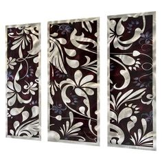 Metallic Bloom Metal Wall Art