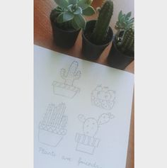 My plants.  #kaktus #plants  #drawing