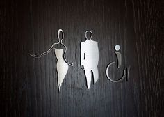 We are loving these elegant restroom sign designs, custom signs are a great way to convey your brand and create a unique visitor experience.