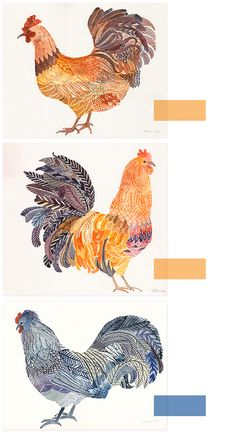 buck buck chickens by united thread.