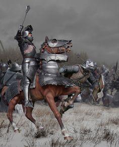 Бургундский жандарм в готическом доспехе. Битва при Нанси, 1477.   Р7,  М1:6 (300 мм).