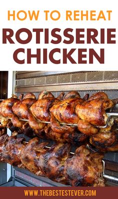 If you want to know the best way to reheat rotisserie chicken, take a look at this quick guide that'll highlight the 3 best options for you. Whole Chicken In Oven, Oven Chicken, Smoked Chicken, Stuffed Whole Chicken, How To Cook Chicken, Tandoori Chicken, Roast Chicken, Reheating Rotisserie Chicken, Costco Rotisserie Chicken Recipe