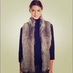 CK FAUX FUR VEST BNWT  Calvin Klein Jackets & Coats Vests
