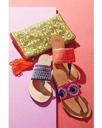 gorgeous bright colored sandals from Anthropologie Cute Shoes, Me Too Shoes, Shoe Boots, Shoes Sandals, Boho Shoes, Chanel Sandals, Flat Sandals, Crazy Shoes, Shoe Game
