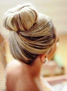 Bride's retro classic twisted top bun long bridal hair ideas  Toni Kami Wedding Hairstyles ♥ ❶