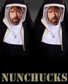 NUNCHUCKS. too funny(: