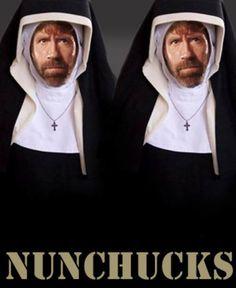 NUNCHUCKS. too funny(: