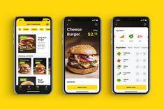 Case Study: Tasty Burger UI Design for Food Ordering App Tubik tasty food app - Recipes Design Android, App Ui Design, Food Design, Food App, A Food, Delicious Burgers, Tasty Burger, Delivery Comida, Delivery App