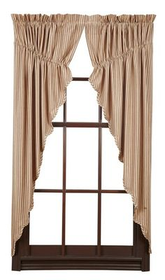 Add a unique look to your windows and give them an update with our Cheston Scalloped Lined Prairie Curtains! https://www.primitivestarquiltshop.com/search?type=product&q=cheston+scalloped+lined+prairie+curtains #countrystylecurtains