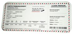 Faire-part de mariage France Airlines à partir de 1.49 €