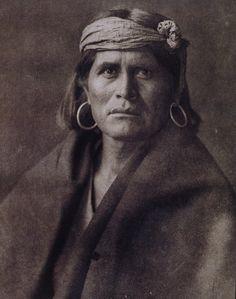 Edward Curtis, Hopi, Native American, sepia tone