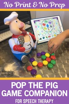 Pop the Pig Game Companion, No Print & No Prep, For Speech & Language Speech Therapy Autism, Preschool Speech Therapy, Speech Language Pathology, Speech And Language, Articulation Activities, Speech Therapy Activities, Language Activities, Preschool Activities, Shape Activities