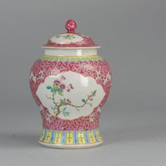 Ca 1970 PROC Period Chinese Porcelain Vase  Beautiful and very nice painted vase.