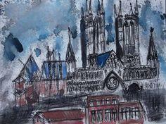 "Saatchi Art Artist Alejandro Duchamp; Drawing, ""La catedral sumergida"" #art"