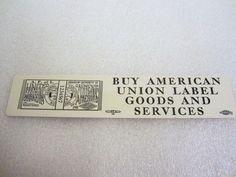 "United Garment Workers of America Ruler 6"" Bookmark Buy American Union Label #Unionlabel #garmentworkersunion #makeamericagreatagain #buyAmerican"