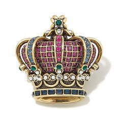 "Shop Heidi Daus ""Her Majesty"" Crystal Crown Pin, read customer reviews and more at HSN.com."