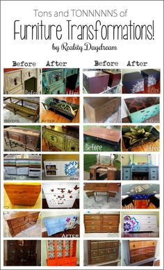 TONS of DIY furniture inspiration, techniques, and ideas! {Sawdust and arrangement idea furniture inspiration Furniture Fix, Do It Yourself Furniture, Diy Furniture Projects, Refurbished Furniture, Repurposed Furniture, Furniture Making, Furniture Makeover, Furniture Refinishing, Vintage Furniture
