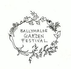 Ballymaloe Garden Festival this August Botanical Illustration Black And White, Grain Store, Logo Design, Graphic Design, Communication Design, Printable Paper, Embroidery Applique, Creative Inspiration, Illustration Art