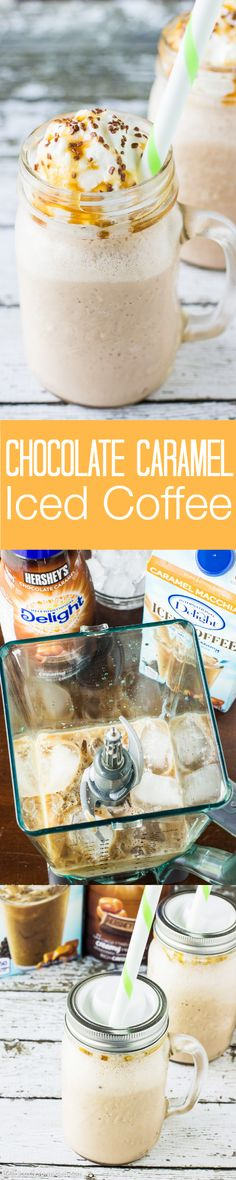 Chocolate Caramel Iced Coffee
