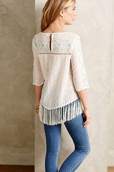 Tiarella Fringe Top - anthropologie.com