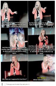 [GIFSETS] Kathryn Newton talking about J2 LOL    Kathryn Newton #Jensen #Jared #Misha #Dallascon 2015