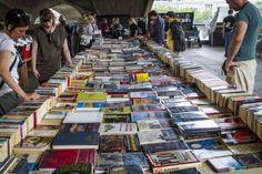 Books under the Waterloo Bridge...Southbank Centre Book Market