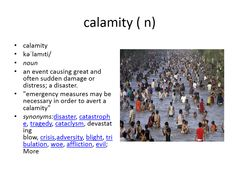 calamity meaning