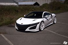 Take a look at the Show Stopper White Acura NSX on Colormatched Buttoms photos and go back to customizing your vehicle with renewed passion. Lamborghini Aventador, Ferrari, New Nsx, New Acura Nsx, Honda S2000, Honda Civic, Rolls Royce, Porsche, Forged Wheels